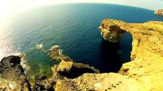 Dwejra Azure Window Gozo HD Drone 2015