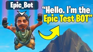 Fortnite is adding BOTS to BR... so I pretended to be one