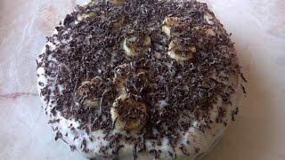 Бисквитный торт. Быстро и просто.