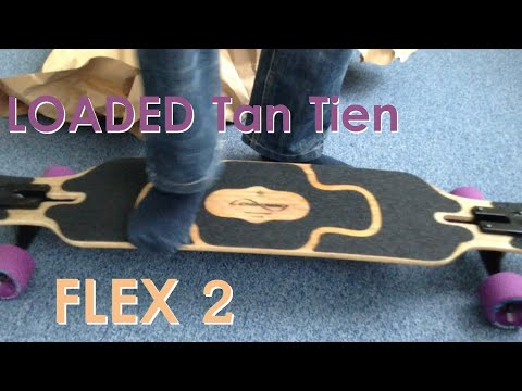 [Unboxing] Loaded Tan Tien Flex 2 Longboard + Flex-Test + Review   Longboarding Germany