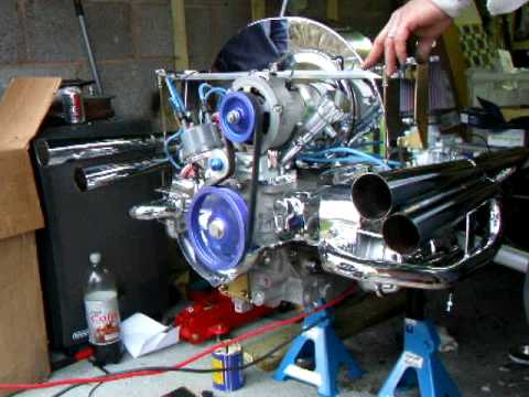 Vw Beach buggy with power pipes first run 1641cc new ...
