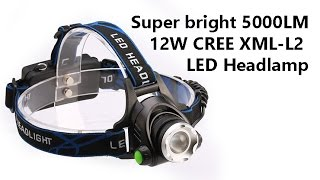 Налобный фонарик c Aliexpress/ Super bright Headlamp