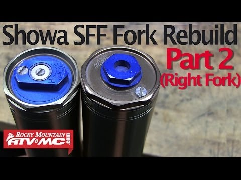 Showa SFF Fork Rebuild & Seal Replacement Part 2 (Right Fork)