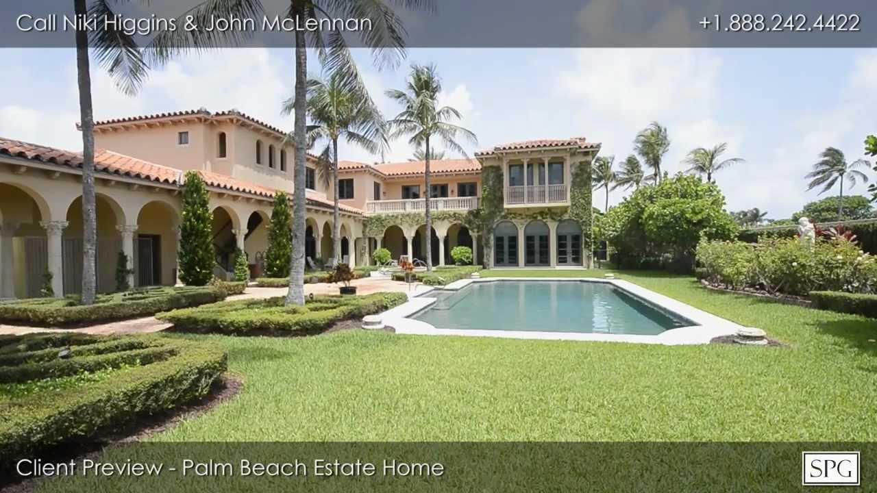 Client preview for palm beach estate home youtube for Palm beach home for sale