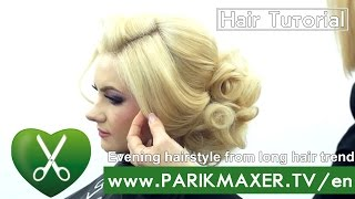 Evening hairstyle from long hair trend ♛ spring summer 2016