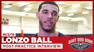 Lonzo Ball Talks Pelicans Fast Pace, Zion Lob, Practice | New Orleans Pelicans