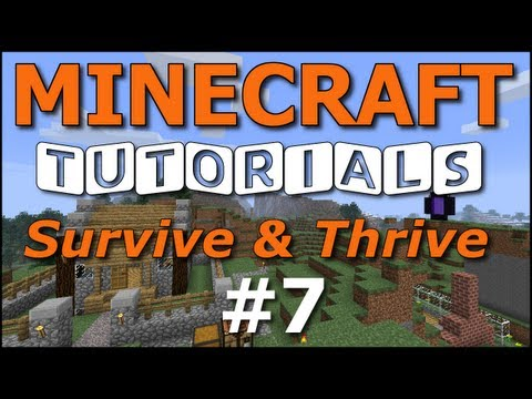 Minecraft Tutorials - E07 Exploring and Beacons (Survive and Thrive II)