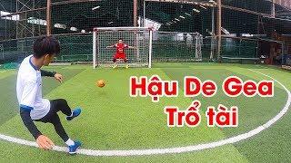 Thử Thách Bóng Đá - Hậu De Gea trổ tài bắt penalty, tâng bóng & ghi bàn từ sân nhà