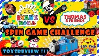 Ryan's World VS Thomas the Train MINIS:  Spin Game Challenge!!!