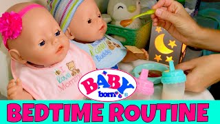 🌙Baby Born Twins Evening Routine! 🍼Feeding, 👚👕Changing + 📕Fun Bedtime Story With Emma & Ethan!