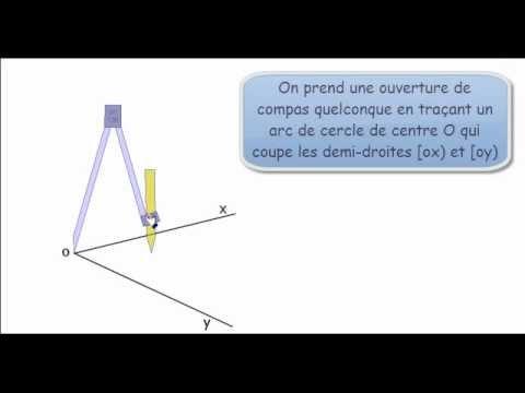 Construire la bissectrice d 39 un angle avec un compas et une for Construire une douche avec receveur