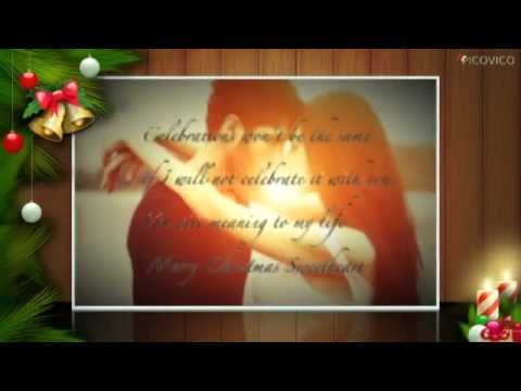 Merry christmas romantic greeting cards ,Love quotes and romantic xmas wishes