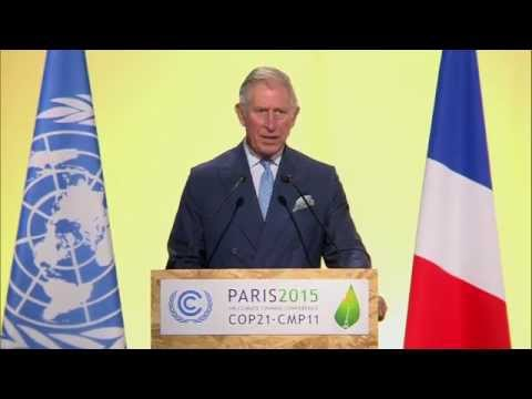 The Prince of Wales delivers a keynote speech at COP21 in Paris