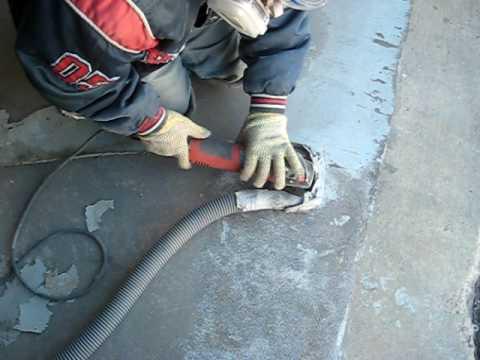 Concrete Grinding By Hand Liquidfloors Com Youtube