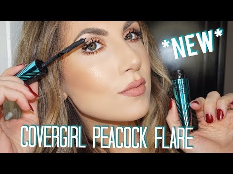 *NEW* COVERGIRL PEACOCK FLARE MASCARA   REVIEW & DEMO