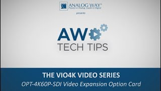 VIO 4K Video Series #4 - OPT-4KP60P-SDI-VIO4K Video Expansion Card