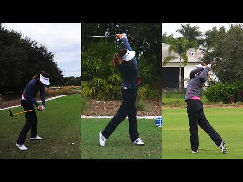 MICHELLE WIE - CME SWING FOOTAGE TIBURON GOLF COURSE REGULAR & SLOW MOTION 1080p HD