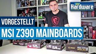 Intel Z390   MSI präsentiert vier neue Mainboards