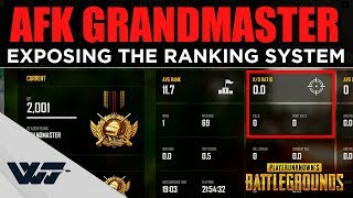 AFK GRANDMASTER - Exposing the ranking system of PUBG