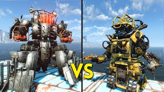 Fallout 4 - 25 AHABS vs 25 ROBOBRAINS - Battles #22