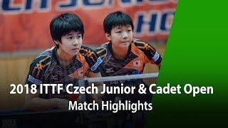 2018 Czech Junior & Cadet Open Highlights: NAKAMORI H./YOKOI Sakura vs A. Hana/Z. Linda (Final)