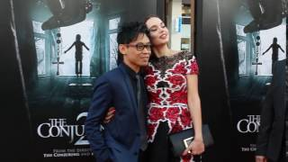 James Wan and actress Ingrid Bisu friendship in the air.