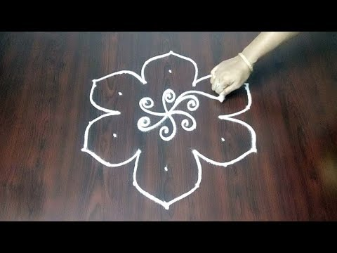 Latest  Rangoli Design 7 x 4 || Beautiful Kolam || Chukkala Muggulu Ideas || Fashion World