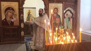 Рождественское праздничное богослужение в нашем храме. 7 января.