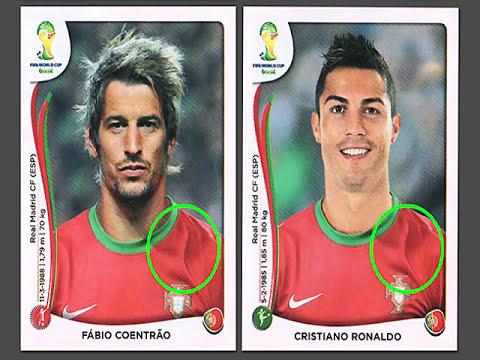Polemica por fotos fraudulentas del mundial de brasil 2014,Lionel Messi y Cristiano Ronaldo.