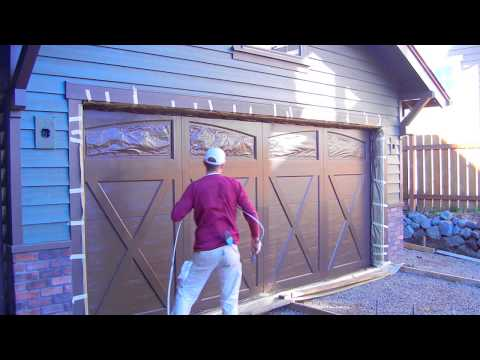 sherwin williams duration on a garage door fine finish youtube. Black Bedroom Furniture Sets. Home Design Ideas