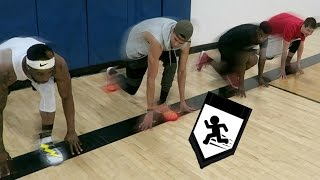 Who's The Fastest Challenge! BASKETBALL SUICIDES! Feat. LSK, TDPresents