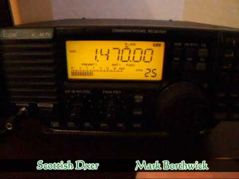 MW DX 1470khz Radio Formula Mexico City Received In Scotland on Icom R75 and EWE Antenna