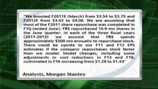 Analyst Insight: Morgan Stanley Upped EPS Estimates For Forest Laboratories, Maintained OW Rating