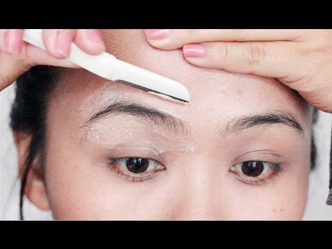 How I Shave My Eyebrows   DIY Clean Brows At Home   EASY & PAINLESS