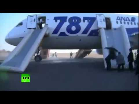 EMERGENCY landing  Two Japanese airlines GROUND all Boeing 787 DREAMLINER as smoke detected