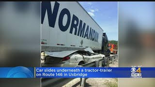 Police 'Amazed' Driver Only Has Minor Injuries After Sliding Under Tractor-Trailer