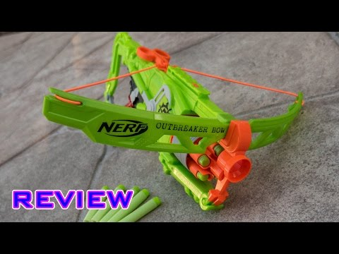 [REVIEW] Nerf Zombie Strike Outbreaker Bow Unboxing. Review. & Firing Test