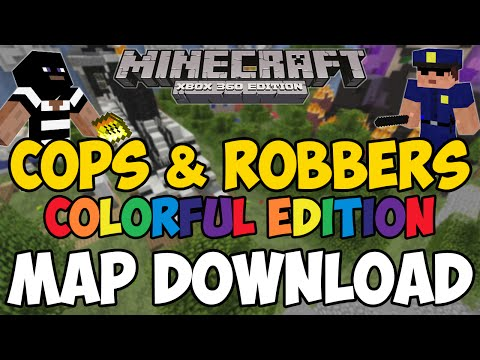 Minecraft Xbox 360/One: Cops And Robbers (Colorful Edition) map Download