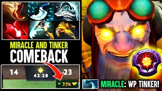 The Crazy Fast Tinker Who Helped Miracle To Reach 10,000 MMR - Lighting Fast Tinker Dota 2