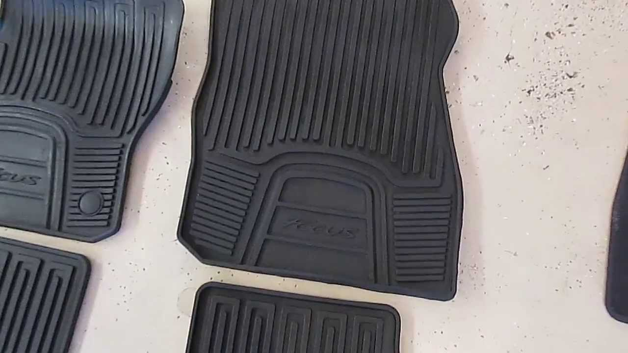 Comentry Floor Mats : Ford Focus Floor Mat Comparisons (Stock, Stock all-weather, Huskey ...