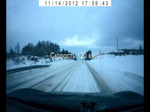 Высокая скорость на снежной дороге