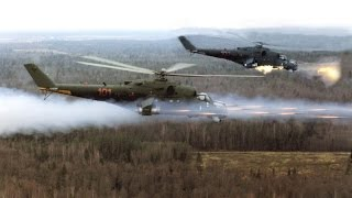 Russian MI 24 Attacking Rebel Positions
