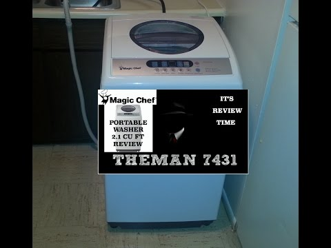 ( REVIEW ) MAGIC CHEF PORTABLE WASHER 2.1 CU FT
