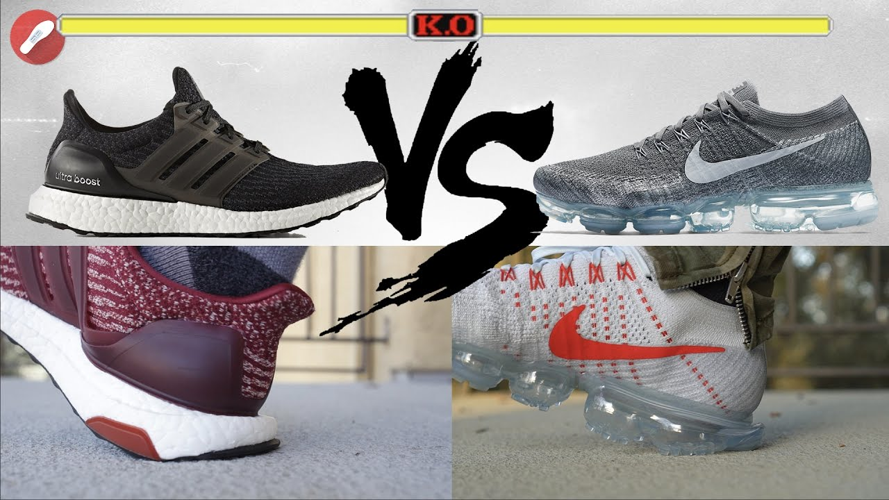Adidas Ultra Boost vs Nike VaporMax! What's More Comfy?