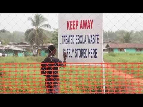 Disposing of Ebola waste in Liberia