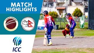 Qatar v Nepal - Match Highlights | ICC T20 World Cup Asia Qualifiers | ICC