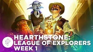 Hearthstone: League of Explorers Week 1 Gameplay Walkthrough