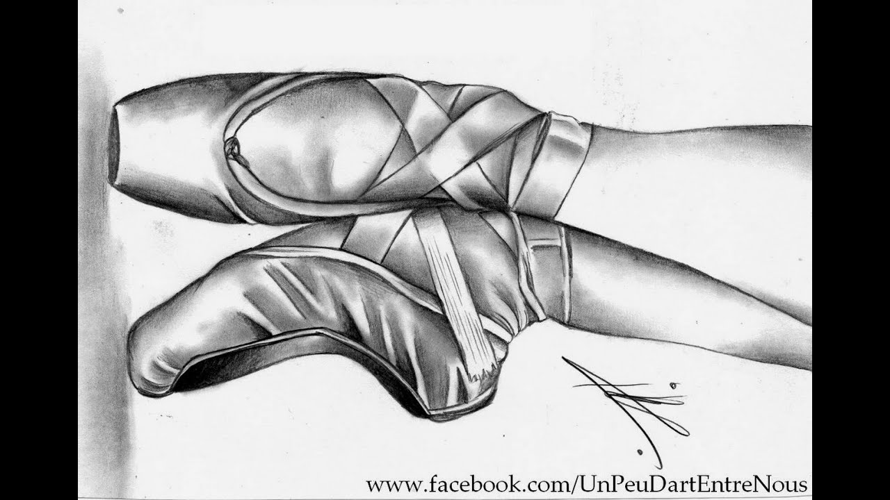 Drawing Ballerina Pointe Shoes