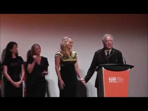 Kate Winslet & Alan Rickman at the premiere of A Little Chaos – TIFF14