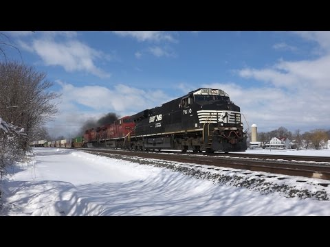 Trains on the Norfolk Southern Harrisburg Line Winter 2016